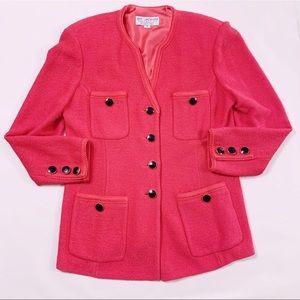 Vntg ST. JOHN hot pink retro blazer jacket
